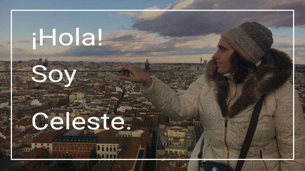 Celeste en la azotea del Hotel RIU Plaza España